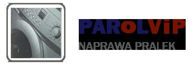 Logo Parolvip. Naprawa pralek WarszawaSerwis pralek na Ursynowie i Mokotowie w Warszawie - Parolvip